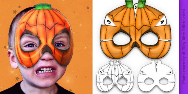 3D Halloween Pumpkin Monster Mask - 3d, halloween, pumpkin, monster, mask