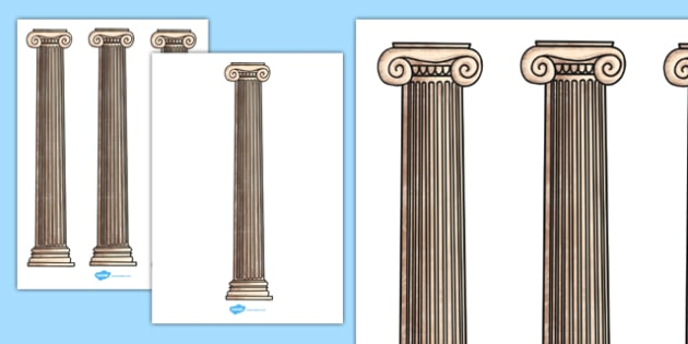Ancient Greece Column Cut-Outs - ancient greece, column, cut outs, cut-outs, cut, outs, display