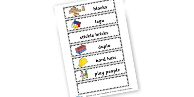 Construction Labels - Construction Area Primary Resources, signs, area, zones, banner