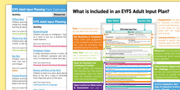 EYFS People Who Help Us Adult Input Planning and Resource Pack Overview