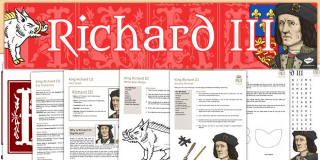 Richard III Resource Pack - richard, III, resource pack, pack