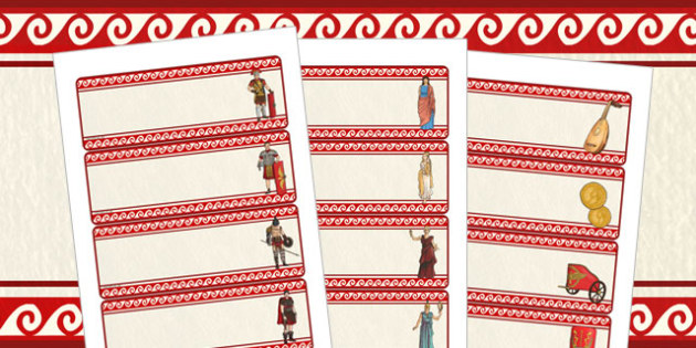 The Romans Themed Editable Labels With Pictures - romans, labels