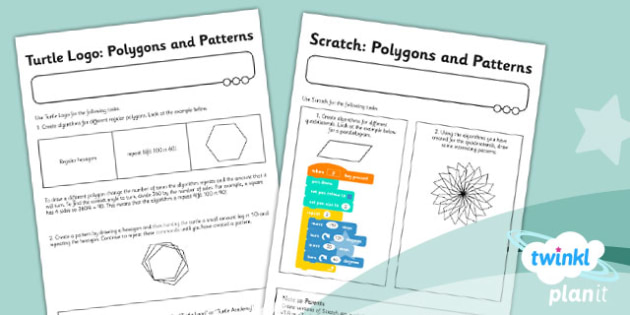 PlanIt - Computing Year 3 - Programming Turtle Logo and Scratch Unit Home Learning Worksheets