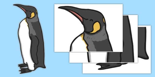 Life Size Emperor Penguin Cut Out - life size, emperor penguin, polar regions, cut out