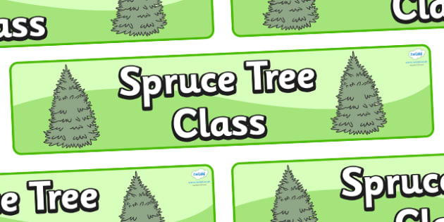 Spruce Themed Classroom Display Banner - Themed banner, banner, display banner, Classroom labels, Area labels, Poster, Display, Areas