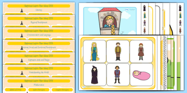 Rapunzel EYFS Lesson Plan and Enhancement Ideas - stories, lesson plans, ideas