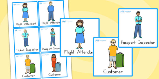 Airport Role Play Badges - airport, role play, props, badges
