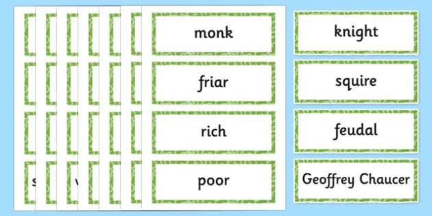 Middle Ages Key Vocabulary Cards - middle ages, history, key, vocabulary