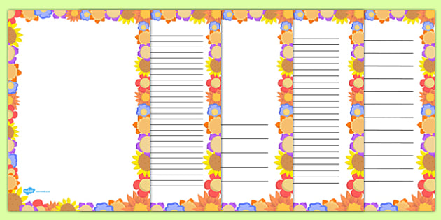 Flower Page Border - flower, page border, page, border, flowers