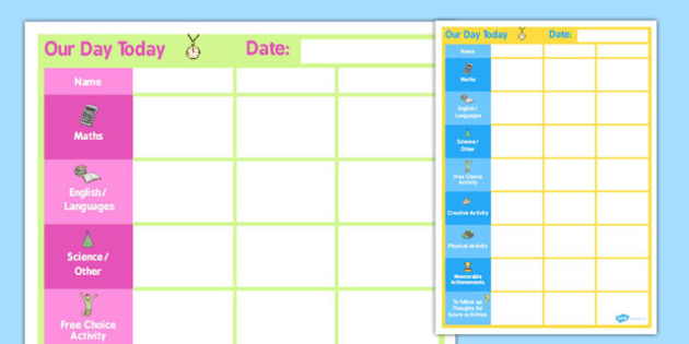 Daily 3 Child Planner - child, planner, daily, 3 child, plan