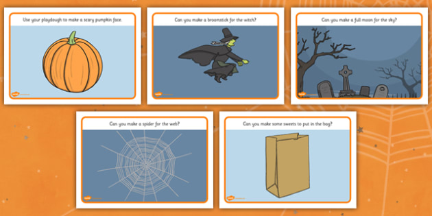 Halloween Playdough Mats - halloween, playdough, malleable, sculpt, play, fine motor, finger fitness