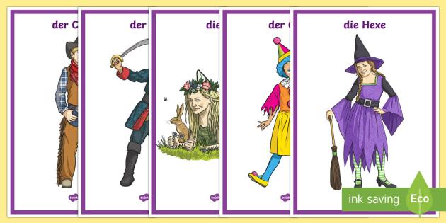 German Carnival Display Posters - German, Carnival, Fasching