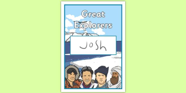 Great Explorers Book Cover - great explorers, book cover, book, cover, great, explorers, history