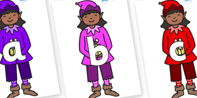 Phoneme Set on Girl Elves (Multicolour) - Phoneme set, phonemes, phoneme, Letters and Sounds, DfES, display, Phase 1, Phase 2, Phase 3, Phase 5, Foundation, Literacy