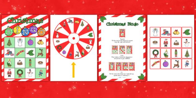 Christmas Spinner Bingo Game - christmas, bingo, game, lotto