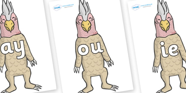 Phase 5 Phonemes on Wild Thing (4) to Support Teaching on Where the Wild Things Are - Phonemes, phoneme, Phase 5, Phase five, Foundation, Literacy, Letters and Sounds, DfES, display