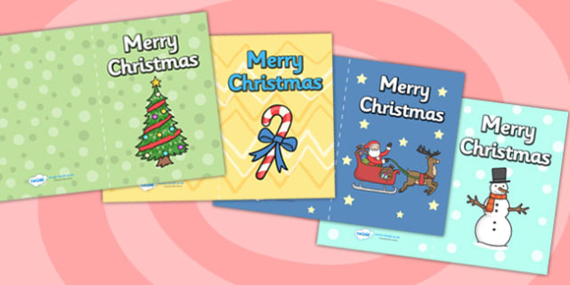 Christmas Card Templates - christmas, ks1, EYFS, cards