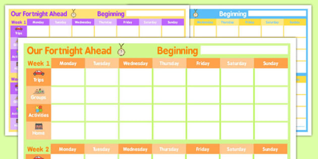 Fortnightly Home Education Planner - home, education, planner