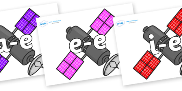 Modifying E Letters on Satellites - Modifying E, letters, modify, Phase 5, Phase five, alternative spellings for phonemes, DfES letters and Sounds