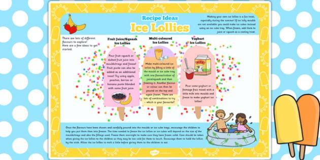 Ice Lollies Recipe Ideas - ice lollies, recipe, ideas, summer