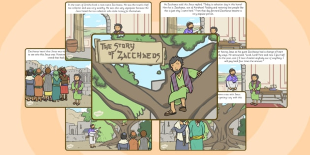 Zaccheus the Tax Collector Bible Story - religion, christianity
