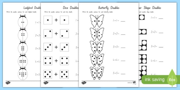 Doubles to 10 Activity Sheets - maths, numeracy, new zealand, doubles, 10, ten, up to, adding, addition, worksheet