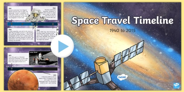 Space Travel Timeline Presentation - space travel, timeline, presentation, powerpoint, history