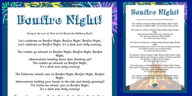 Bonfire Night Action Rhyme Poster - bonfire night, action, rhyme, poster, display