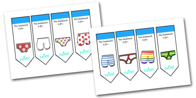 Editable Bookmarks to Support Teaching on Aliens Love Underpants - aliens love underpants, bookmarks, bookmark awards, books, reading, reward bookmarks, themed bookmarks