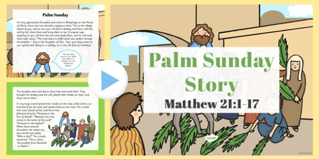 Palm Sunday Story PowerPoint - christianity, powerpoints, stories