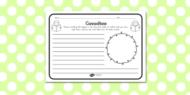 Connections Comprehension Worksheet - australia, connections