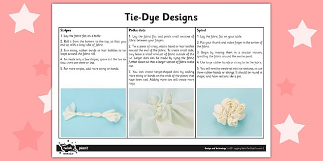 Activity Sheet Tie Dye - activity, sheet, tie dye, dye, colour, worksheet