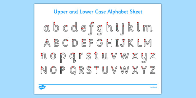 Upper and Lower Case Letters Activity Sheet, worksheet