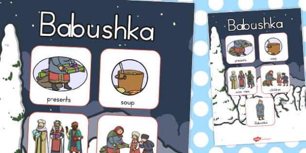 Babushka Vocabulary Poster - australia, babushka, vocabulary