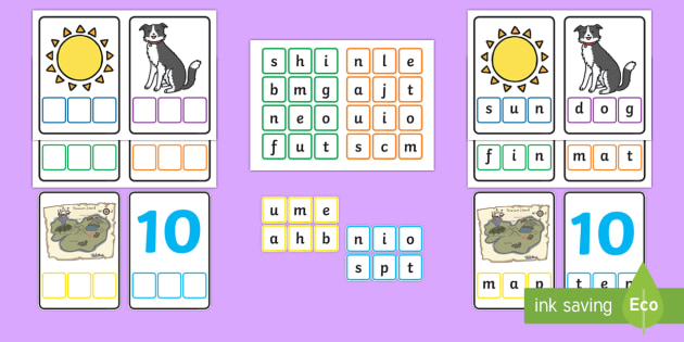 Workstation Pack: CVC Words Mixed Spelling 2 Activity Pack