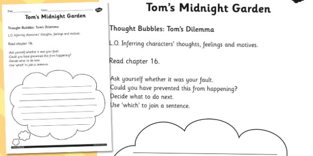 Tom's Thought Bubble - tom, thought, bubble, midnight, garden
