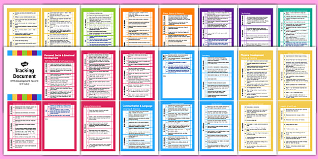 Pocket Sized EYFS Early Years Outcomes Tracking Document - Early, Years, Outcomes
