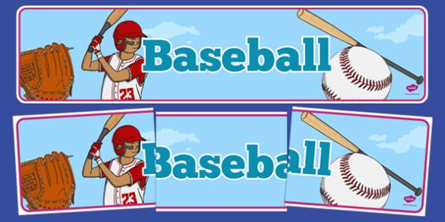 Baseball Display Banner - usa, mlb, baseball, major league baseball, display banner, display,  banner
