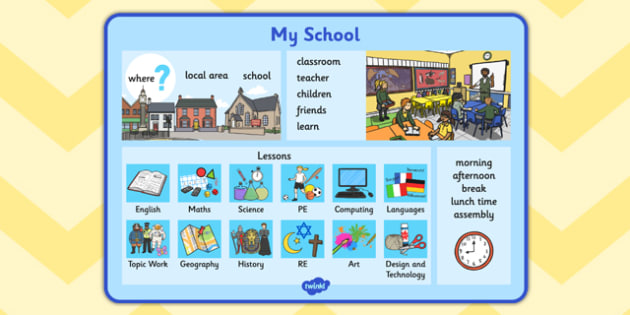 My School Word Mat - my school, word mat, word, mat, school