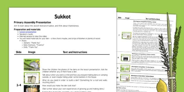 Sukkot Assembly Script - sukkot, assembly, script, judaism, religion