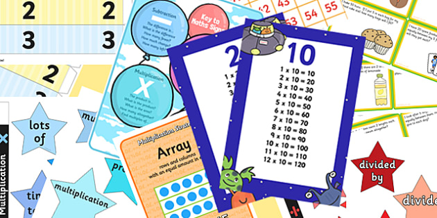 Multiplication and Division Display Pack KS1 Year 2 - multiplication