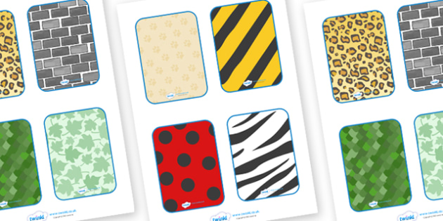 Matching Pattern Cards - matching cards, sorting cards, pattern, matching, animal patterns, giraffe, zebra, leopards