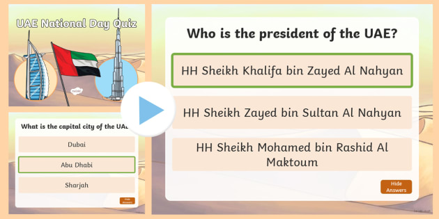 UAE National Day Quiz PowerPoint