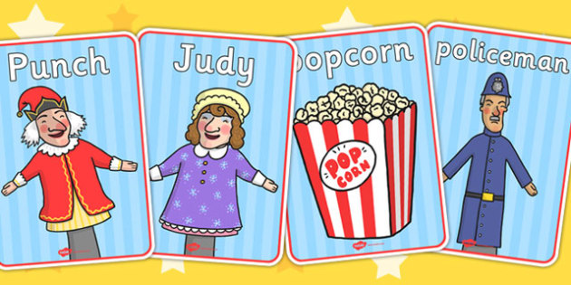 Punch and Judy Display Posters - puppet, stories, poster, display