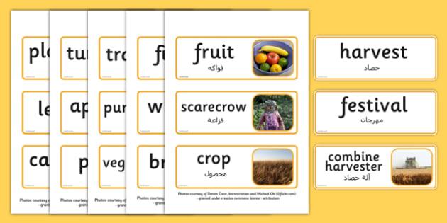 Harvest Topic Words Arabic Translation - arabic, harvest, topic, words