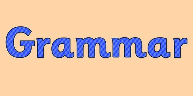 Grammar Display Lettering Blue - grammar, display lettering, blue