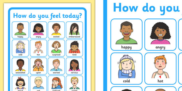 How Do You Feel Today? Emotions Chart - Emotions, Today, Chart