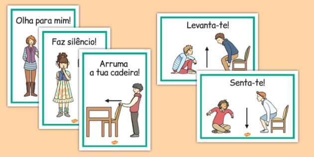 Classroom Instructions Display Posters Portuguese - portuguese, classroom, instructions, display, posters