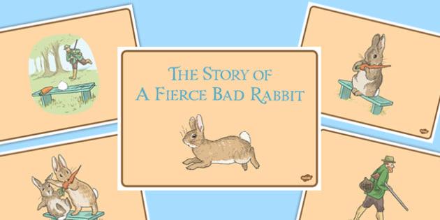 Beatrix Potter - The Story of a Fierce Bad Rabbit Story Sequencing - beatrix potter, fierce, bad, rabbit