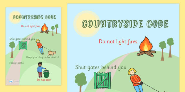 Countryside Code Poster - countryside, country, poster, display